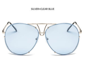 Fashion Oversize Clear Ocean Gradient Sunglasses - kats closet1