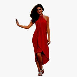 Sundress Summer Women Sexy Dress Long Evening Party Off the shoulder Dress Soild Beach Dresses #LSW - kats closet1
