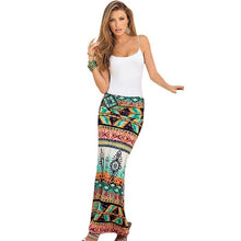 Load image into Gallery viewer, Classical national printing Skirt Women Summer Fashion Retro Printing package hip skirts plus sizes Vintage Long Skirts #LSW - kats closet1