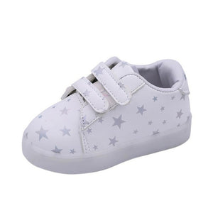 Baby Kids Shoes Sneakers LED Luminous Child Toddler Casual Colorful Light Shoes drop shipping - kats closet1