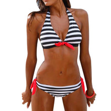 Load image into Gallery viewer, Striped Two Piece 4 Colors Swimsuit - kats closet1