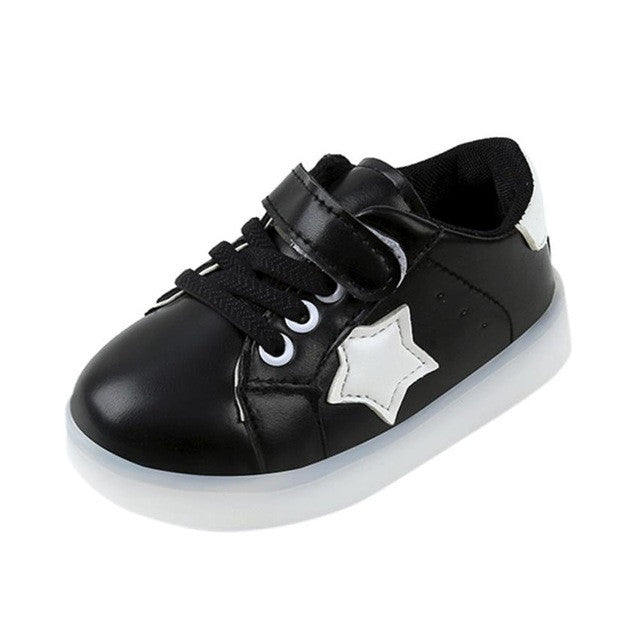 Kids Sneakers Fashion Star LED Luminous Sneakers - kats closet1