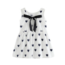 Load image into Gallery viewer, Heart Print Princess Kids Sleeveless Backless Dress - kats closet1