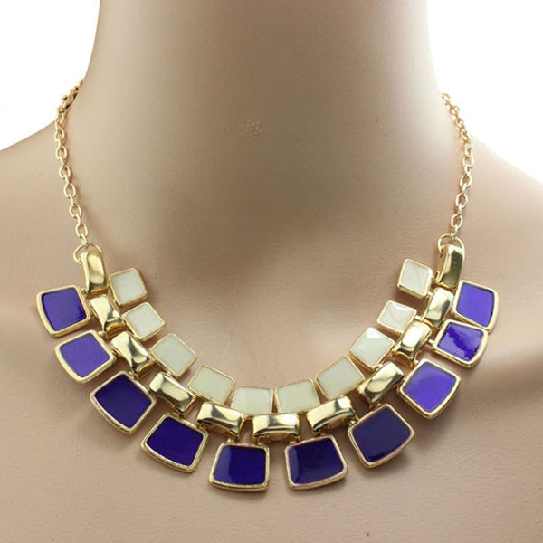 Fashionable Hollow Out Enamel Punk Statement Alloy Necklaces Gift BK - kats closet1