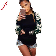 Load image into Gallery viewer, Hot Sale ! Army Green T Shirt Women Long Sleeve Shirt Casual Printing Plus Size Tops For Cool Girl - kats closet1