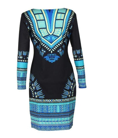 African Long Sleeve Casual Dress