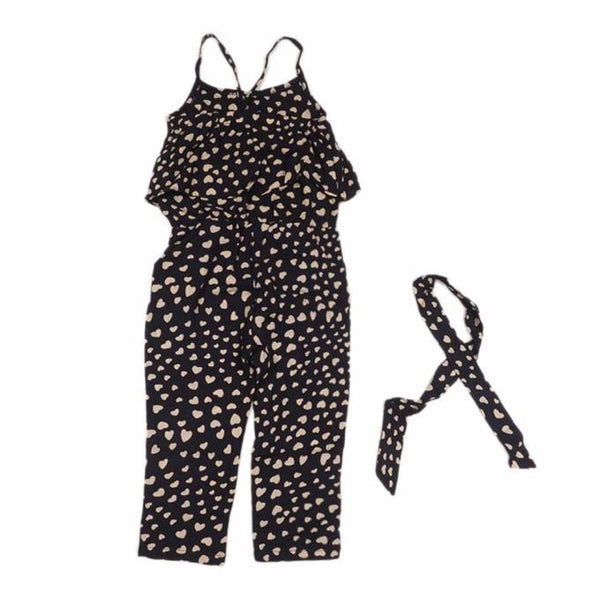 Girls Love Heart Straps Jumpsuit - kats closet1