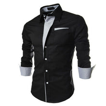 Load image into Gallery viewer, Bursts of British sundries trendy shirt hit color men long-sleeved shirt - kats closet1