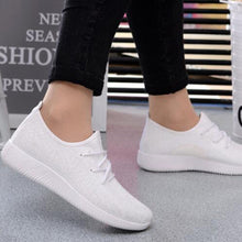 Load image into Gallery viewer, women sport running casual lace up shoes Coconut sports shoes Student flat shoes - kats closet1