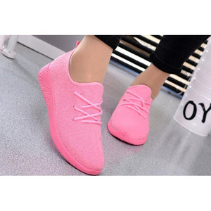women sport running casual lace up shoes Coconut sports shoes Student flat shoes - kats closet1