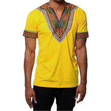 Load image into Gallery viewer, Men's Slim Fit V Neck Printed African Muscle Tee T-shirt - kats closet1
