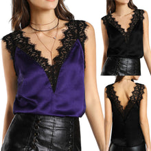 Load image into Gallery viewer, Women Lace Vest Top Sleeveless Casual Tank Blouse Summer Tops T-Shirt - kats closet1