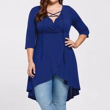 Load image into Gallery viewer, Plus Size High Low Hem Blouse - kats closet1