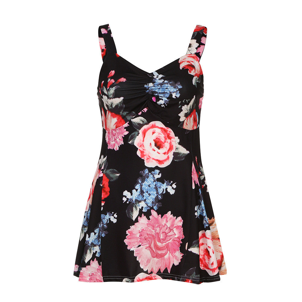 Women Summer Sleeveless Floral Vest Ladies Casual Blouse Tank Tops T-Shirt - kats closet1