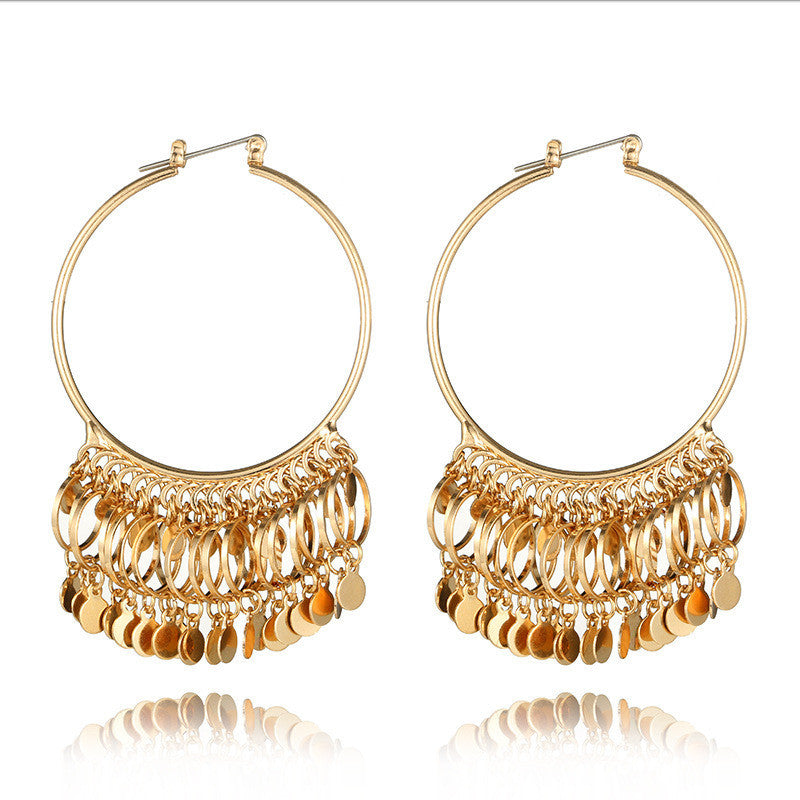 Bohemian Women Fashion Crystal Sequins Tassels Earring Gorgeous Jewelry - kats closet1