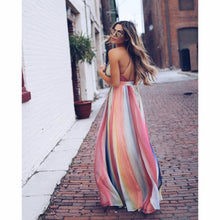 Load image into Gallery viewer, Deep V Neck Sleeveless Backless Maxi Dress - kats closet1
