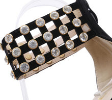 Load image into Gallery viewer, Rhinestone High Heel Pointed Ankle Strap Shoes
