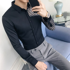 See Through Shirt 2018 Autumn Long Sleeve Transparent Solid Shirt Men Camisa Hombre Slim Fit Party Club Sexy Shirt - kats closet1