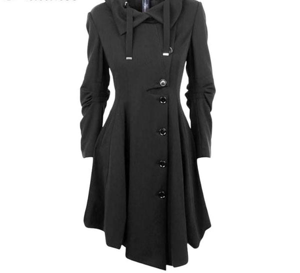 Fashion Long Medieval Trench Coat - kats closet1