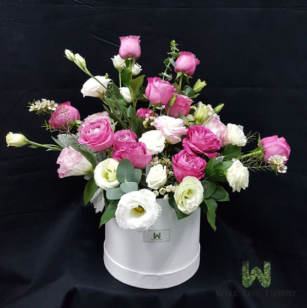 Fresh Cut Roses, Eustoma and Wax Flower