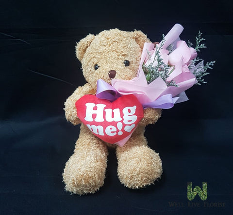 03 Roses and Plush Toy Bear