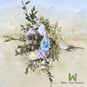 Hand Bouquet of Preserved Flower and Dried Foliage