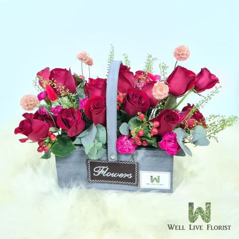 Fresh Cut Roses, Carnation Spray , Filler Flower and Foliage