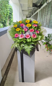 Condolence Flowers Stand of Fresh Cut Flower