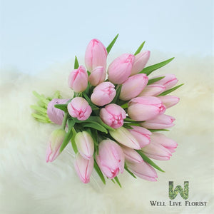 Bridal Bouquet - Pink Tulips