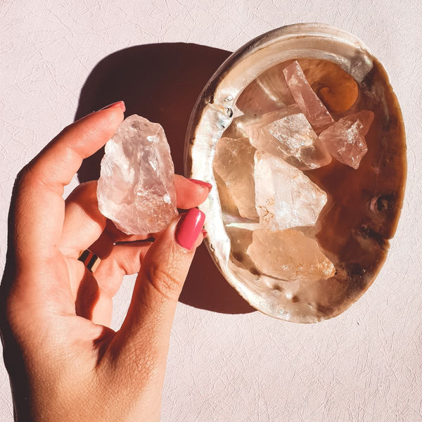 Rose Quartz Cluster Piece - The Friday Feels