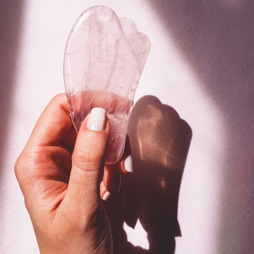Rose Quartz Gua Sha - Luxury Massage Tool - The Friday Feels