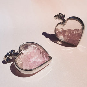 Rose Quartz Heart Pendant - The Friday Feels
