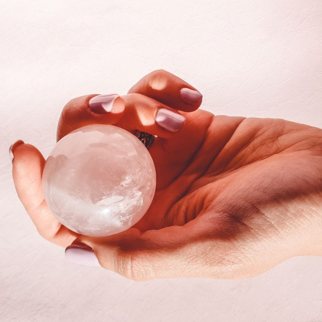 Rose Quartz Sphere - Your Mindfulness & Meditation Companion - The Friday Feels