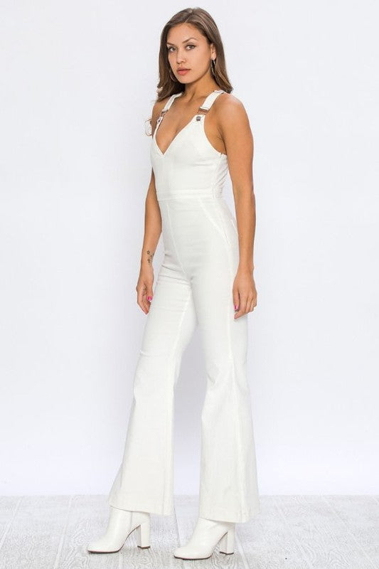 white overall jumpsuit
