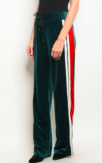 Zip Up Velvet Pants