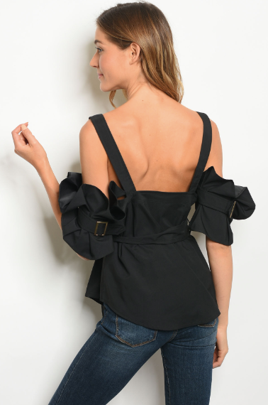 Marissa Bow Sleeve Top