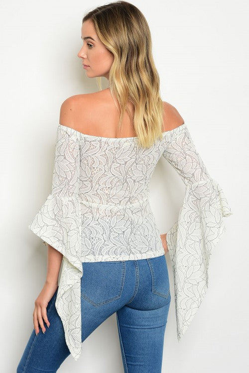 Off the Shoulder Drama Top