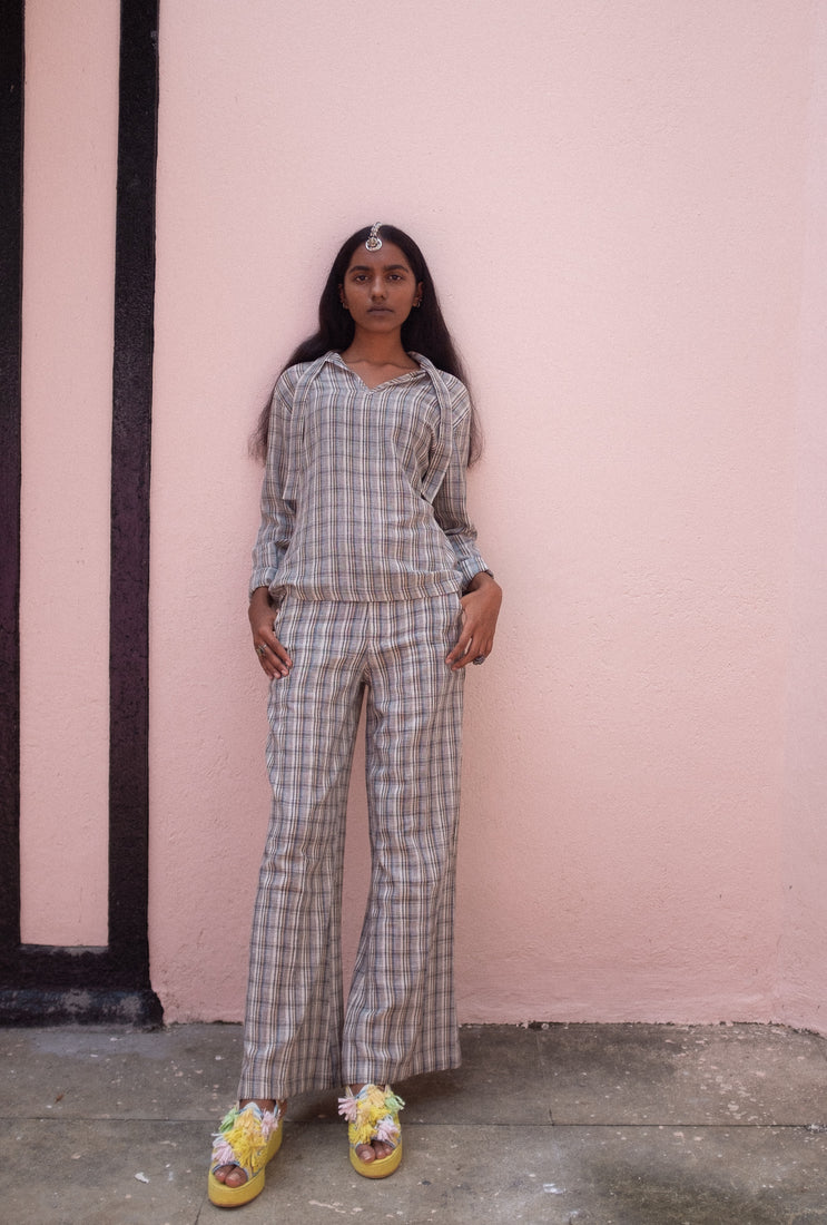 Checked Trousers - Oshadi