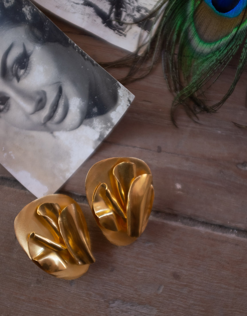 Melt Earrings in Gold - Khwab Studio