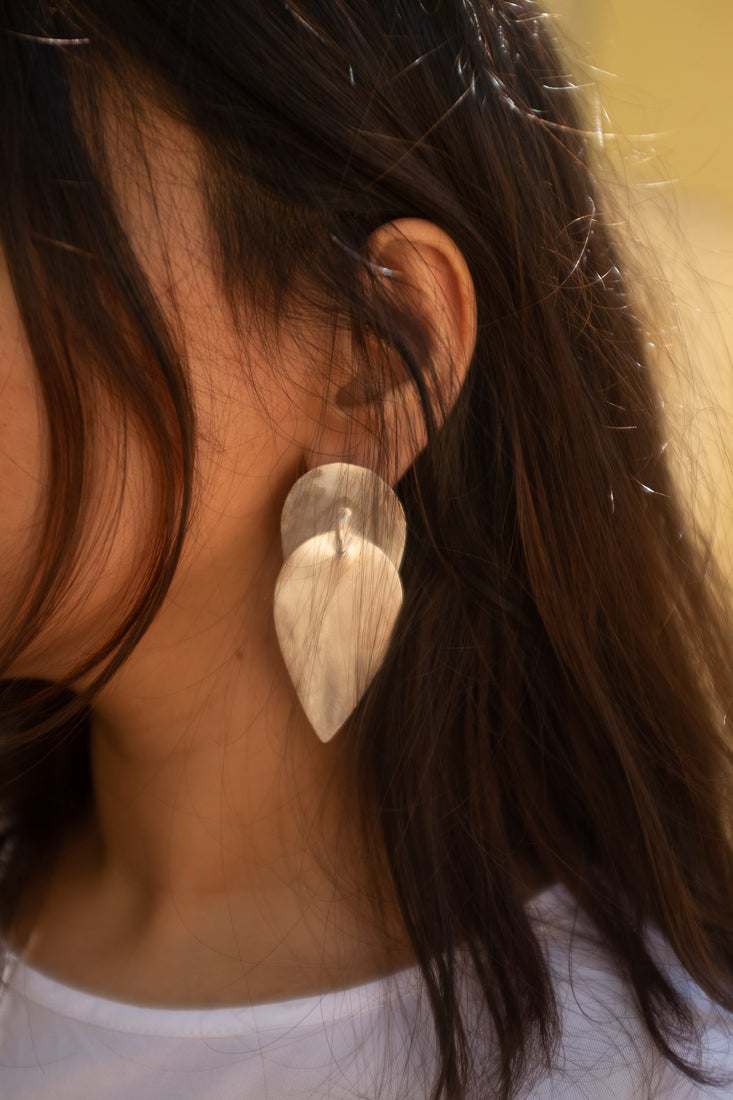 Drop Earrings Silver - Khwab Studio