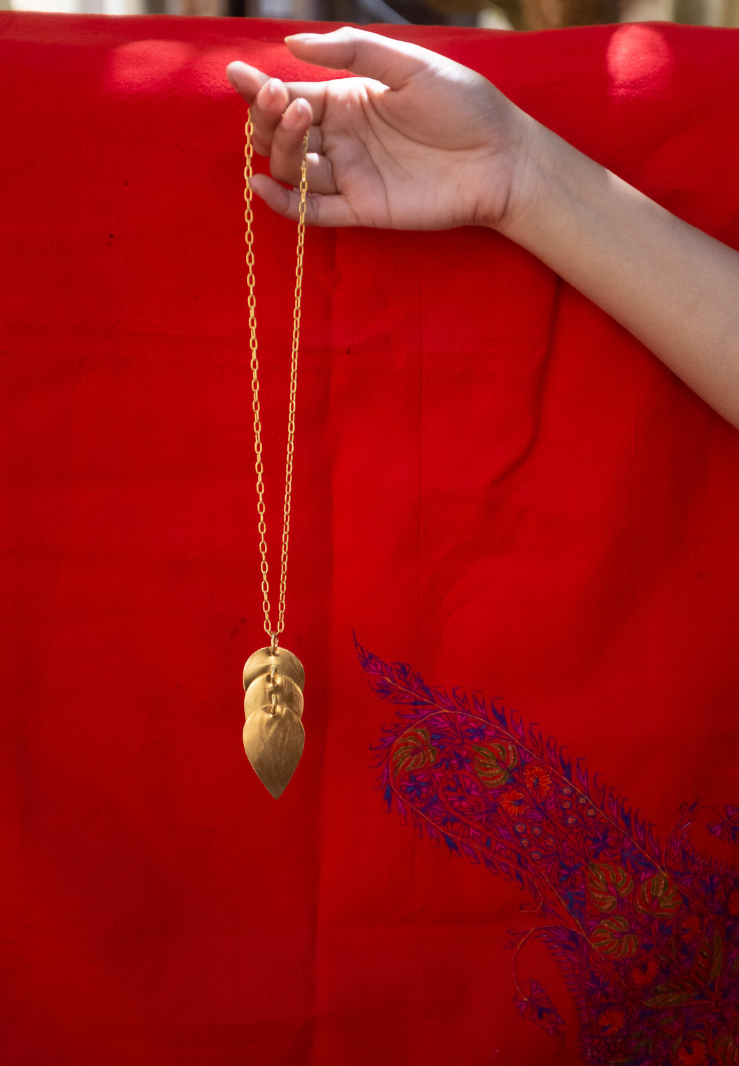 Drop Necklace in Gold - Khwab Studio
