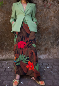 Vintage - 1980s Tropical wrap skirt by Ellen Tracy Linda Allard