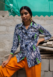 Vintage- 1970's Printed Shirt by Mr. Alex Colman