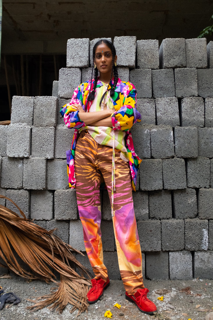 Vintage - 1970s patterned trousers by Serge Dana
