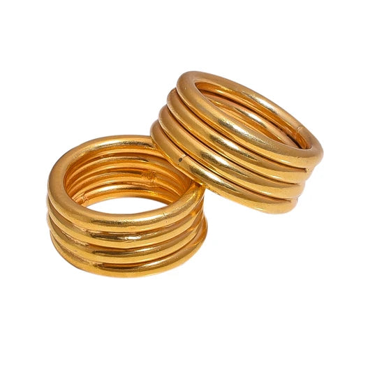 Coil Ring in Gold - Kichu