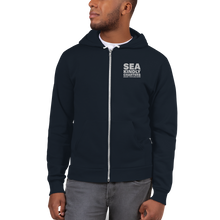 Load image into Gallery viewer, Embroidered Unisex Hoodie Zip Sweater
