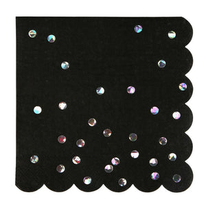 Black Holographic Napkins (large)
