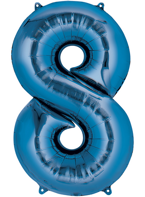 "Giant 40"" Foil Number Balloons - Blue"