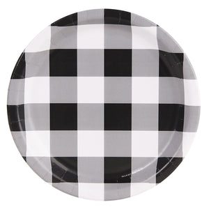 Black & White Buffalo Check Plates