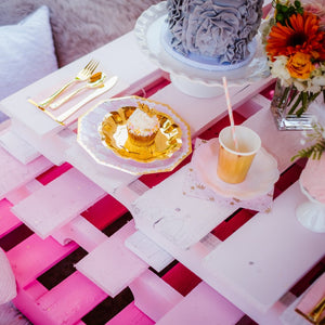 We Love Pink - Pink & Gold Foil Small Plates